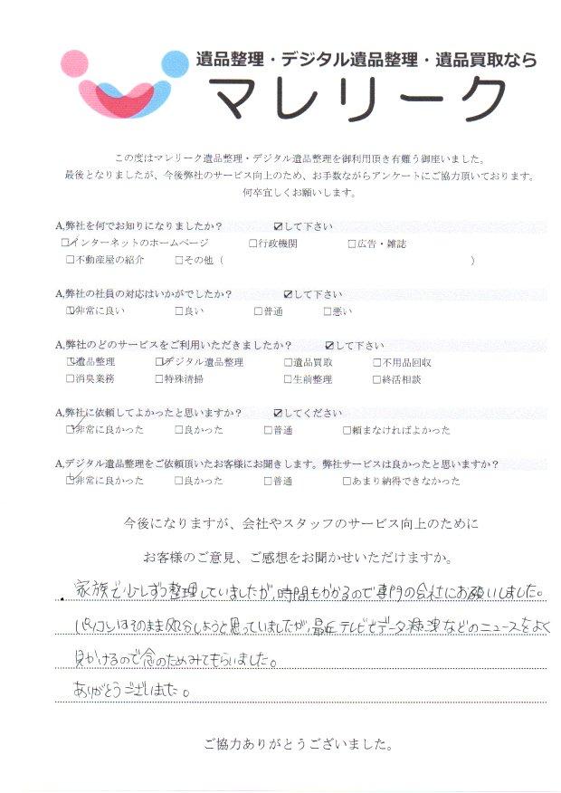 大阪府藤井寺市岡にて遺品整理・デジタル遺品整理をさせて頂きました。