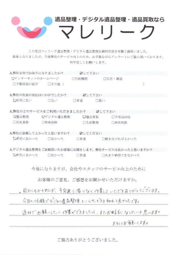 京都府京田辺市三山木にて遺品整理・デジタル遺品整理・遺品買取をさせて頂きました。