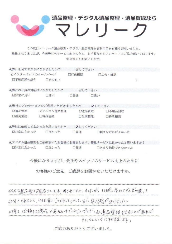 大阪府大阪市此花区朝日にてデジタル遺品整理・遺品整理・遺品買取をさせて頂きました。